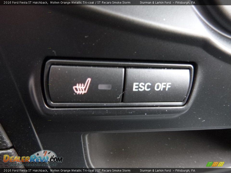 2016 Ford Fiesta ST Hatchback Molten Orange Metallic Tri-coat / ST Recaro Smoke Storm Photo #13