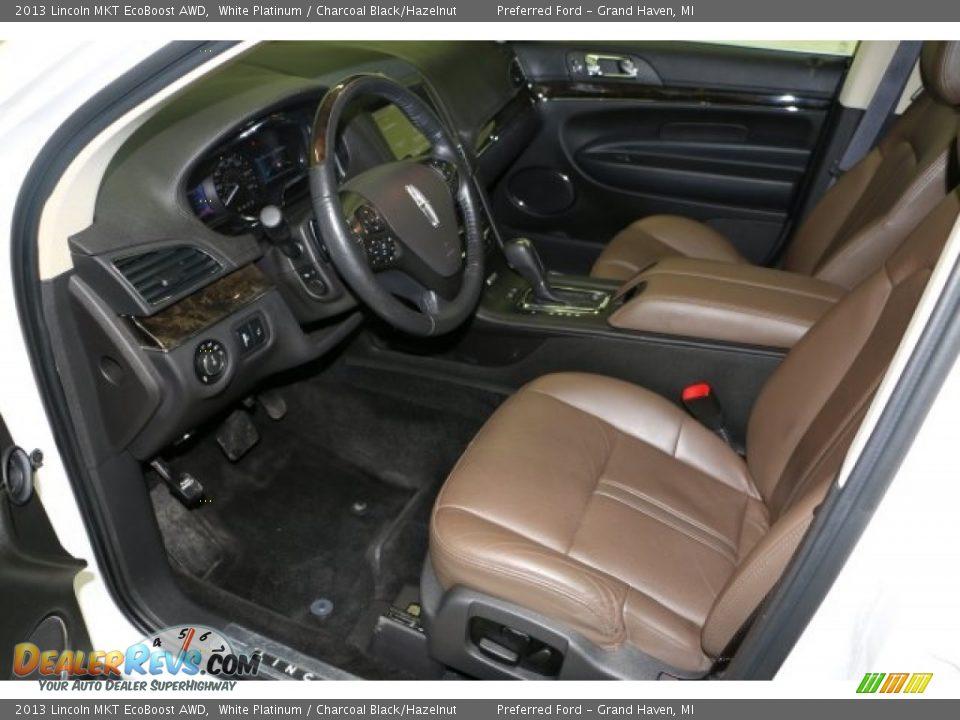 2013 Lincoln MKT EcoBoost AWD White Platinum / Charcoal Black/Hazelnut Photo #4
