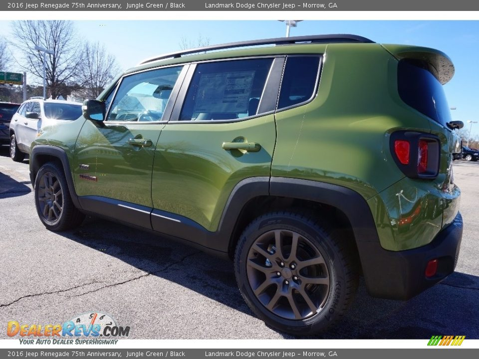 jungle green 2016 jeep renegade 75th anniversary photo 2. Black Bedroom Furniture Sets. Home Design Ideas