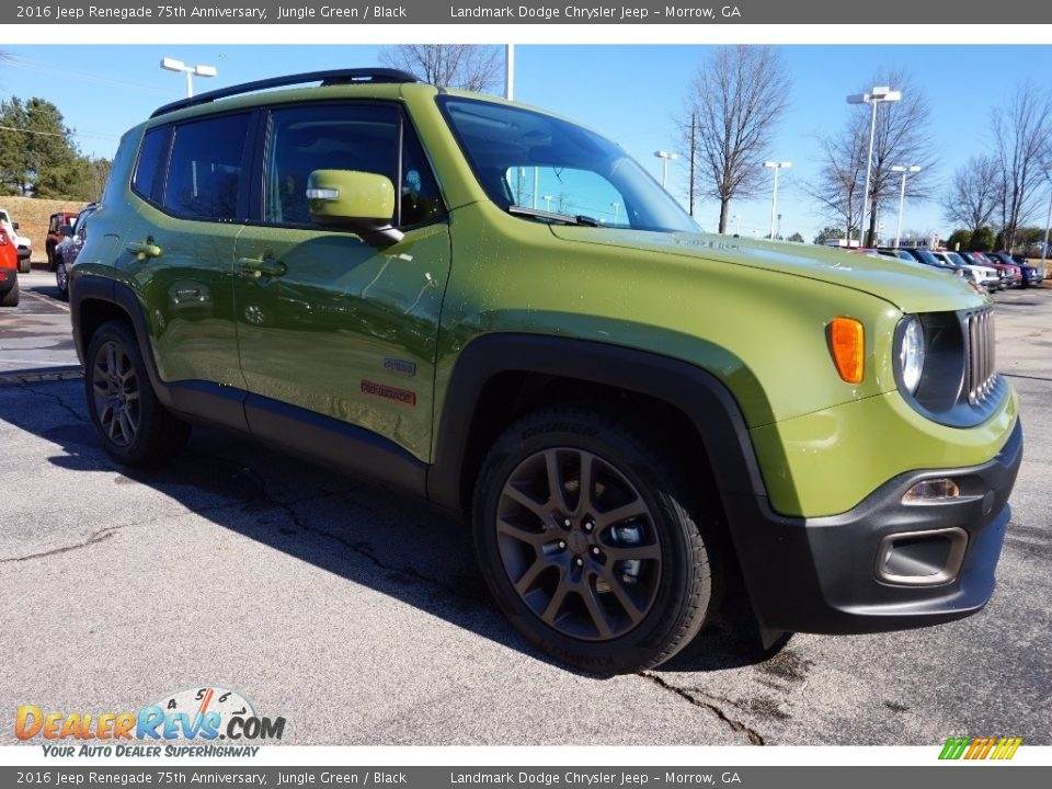 2016 jeep renegade 75th anniversary jungle green black. Black Bedroom Furniture Sets. Home Design Ideas