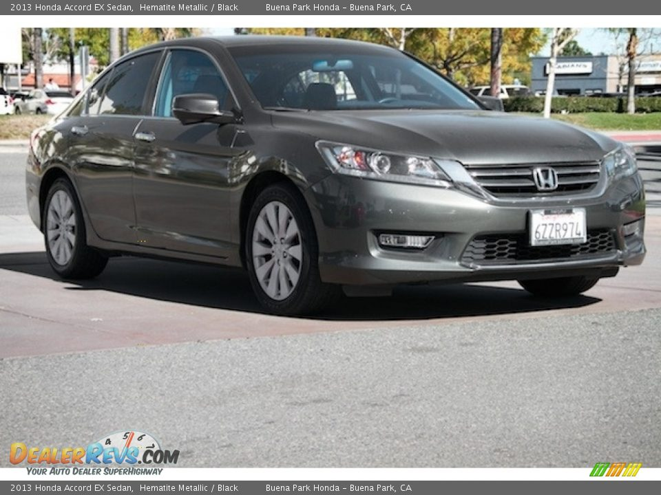2013 Honda Accord EX Sedan Hematite Metallic / Black Photo #1