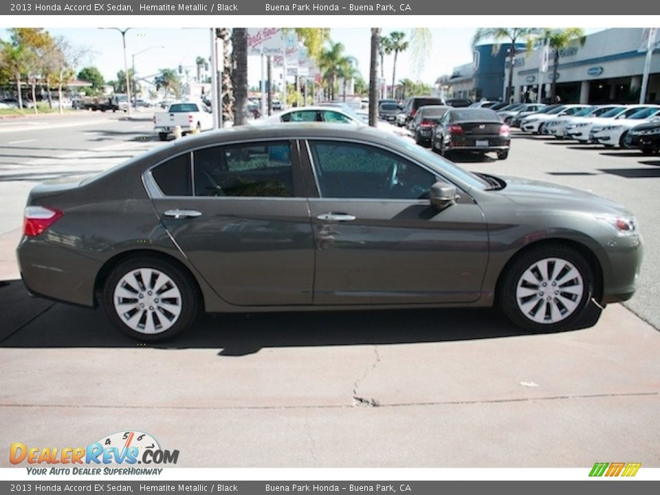 2013 Honda Accord EX Sedan Hematite Metallic / Black Photo #12