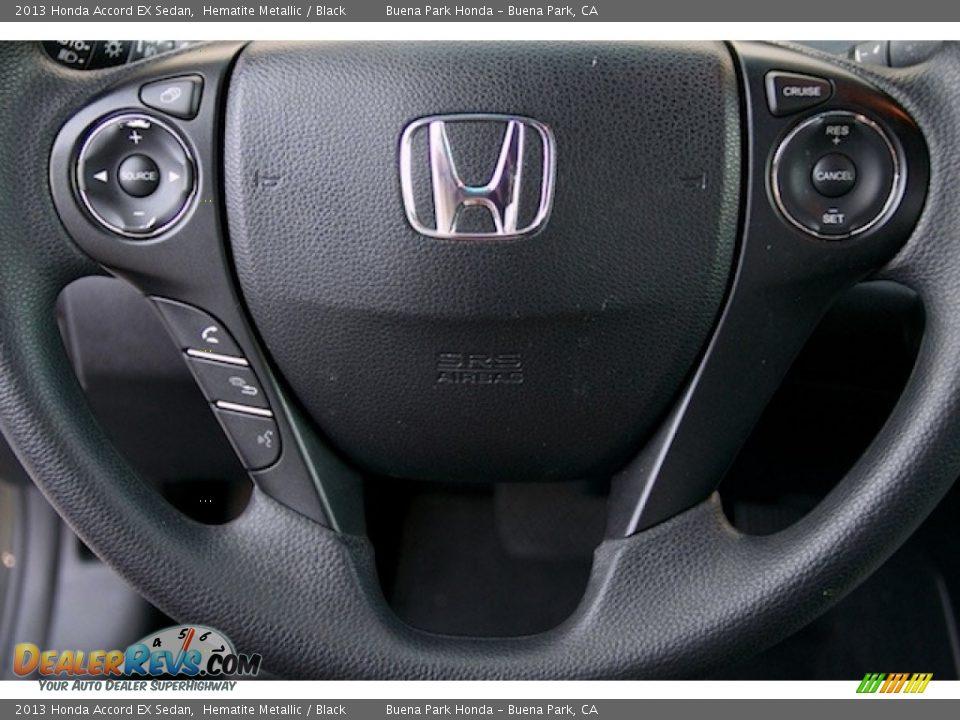 2013 Honda Accord EX Sedan Hematite Metallic / Black Photo #13