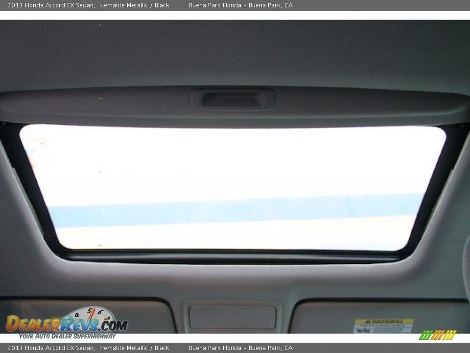 2013 Honda Accord EX Sedan Hematite Metallic / Black Photo #15