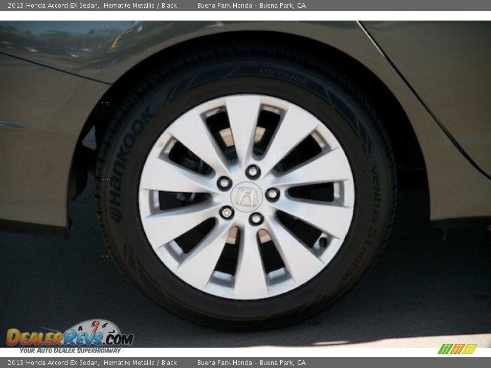 2013 Honda Accord EX Sedan Hematite Metallic / Black Photo #32