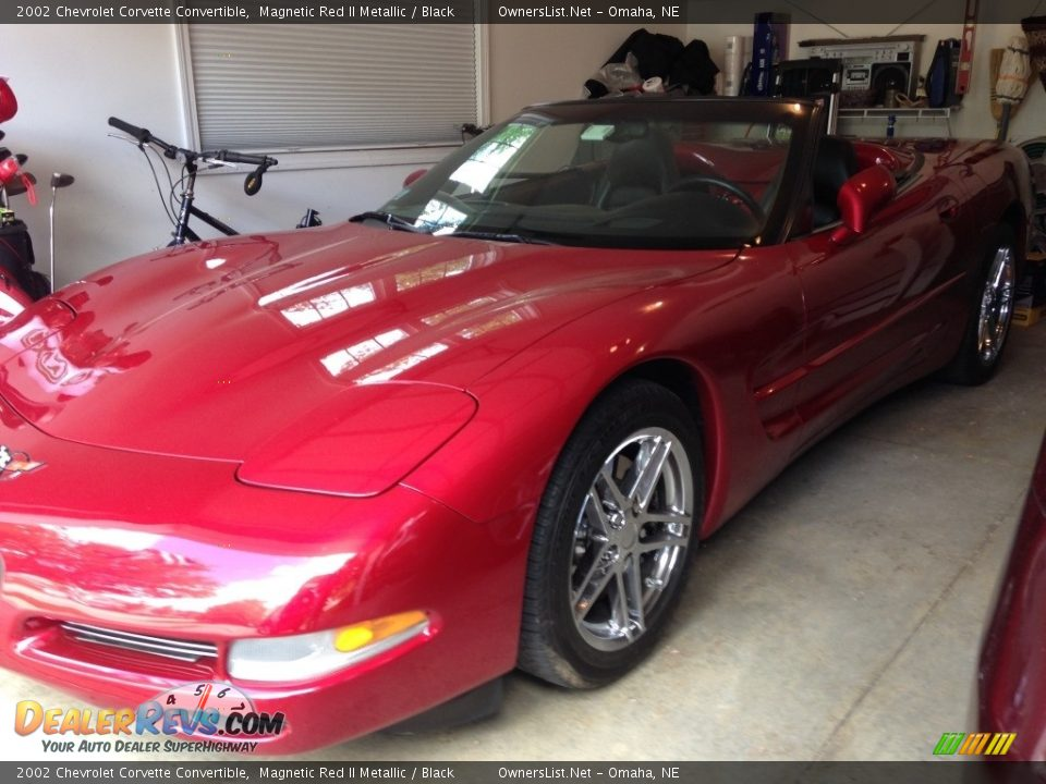 2002 Chevrolet Corvette Convertible Magnetic Red II Metallic / Black Photo #1
