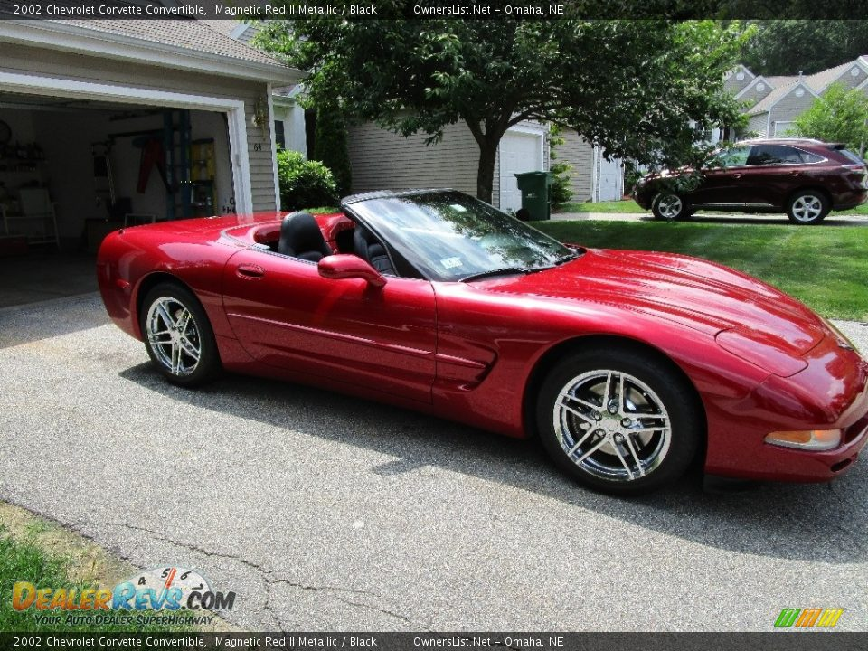 2002 Chevrolet Corvette Convertible Magnetic Red II Metallic / Black Photo #2
