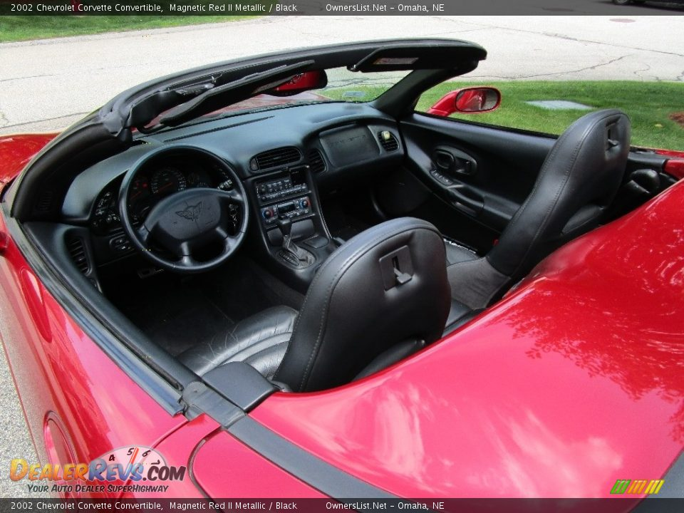 2002 Chevrolet Corvette Convertible Magnetic Red II Metallic / Black Photo #4