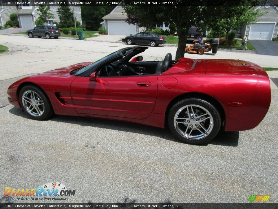 Magnetic Red II Metallic 2002 Chevrolet Corvette Convertible Photo #6