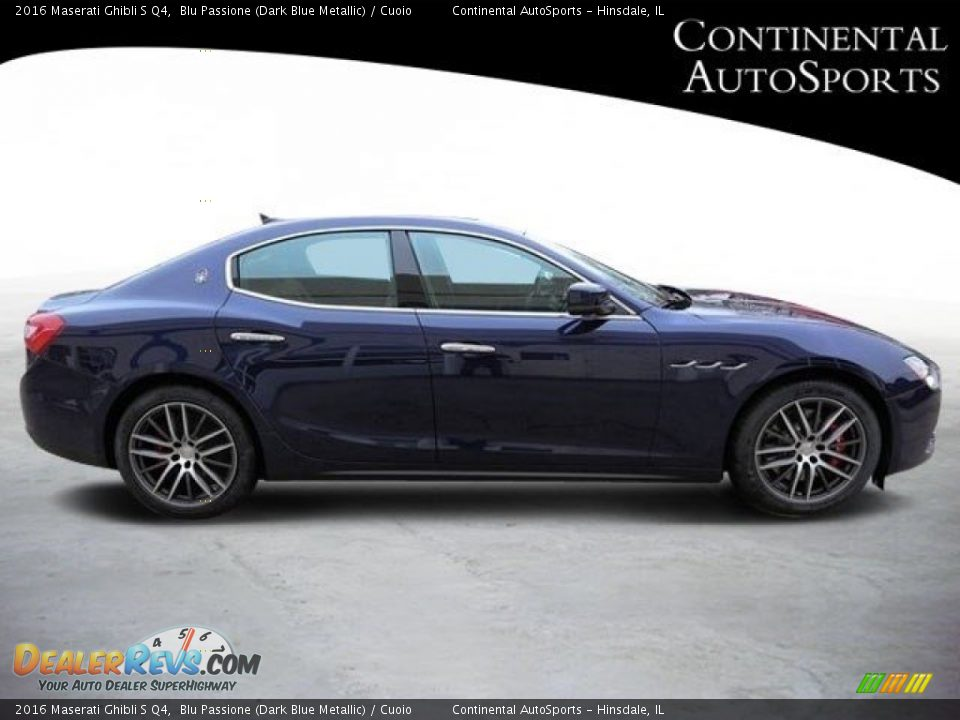 2016 Maserati Ghibli S Q4 Blu Passione (Dark Blue Metallic) / Cuoio Photo #2