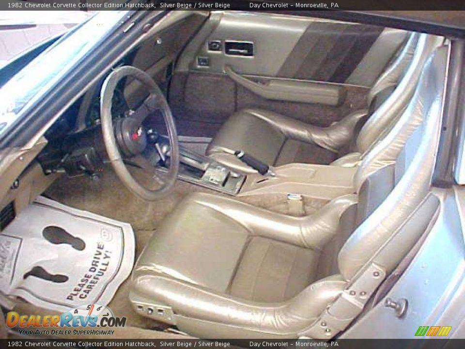 Silver Beige Interior 1982 Chevrolet Corvette Collector Edition