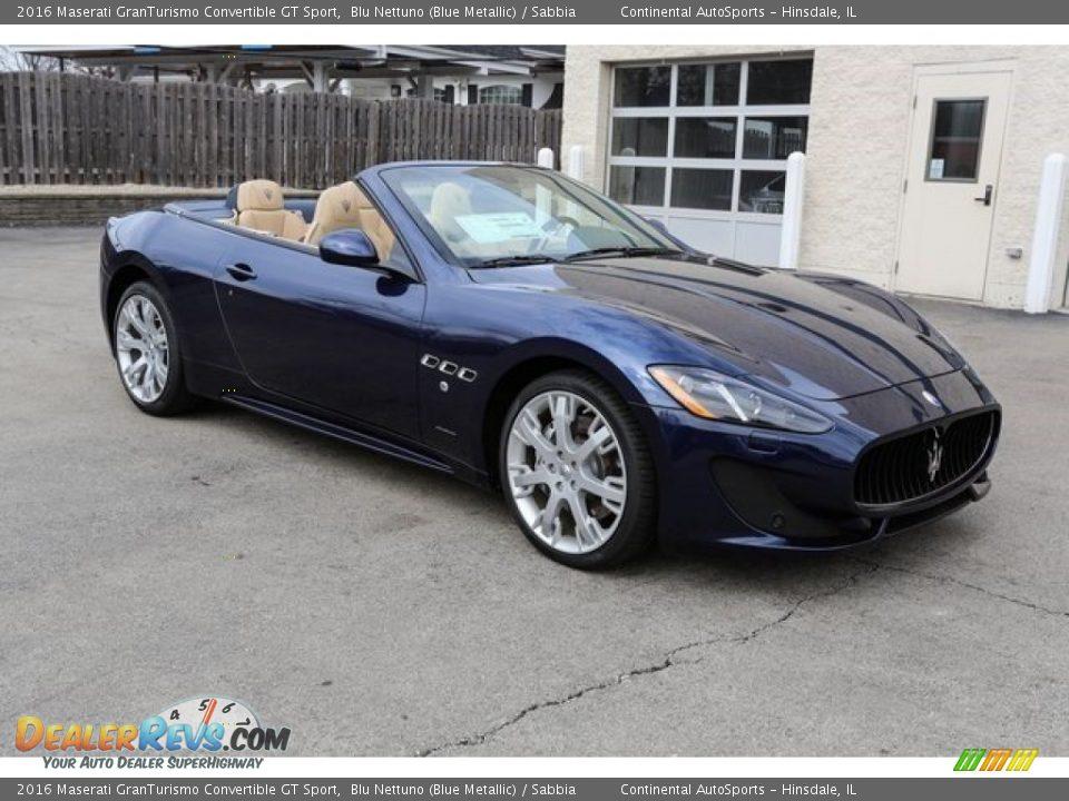2016 Maserati GranTurismo Convertible GT Sport Blu Nettuno (Blue Metallic) / Sabbia Photo #4