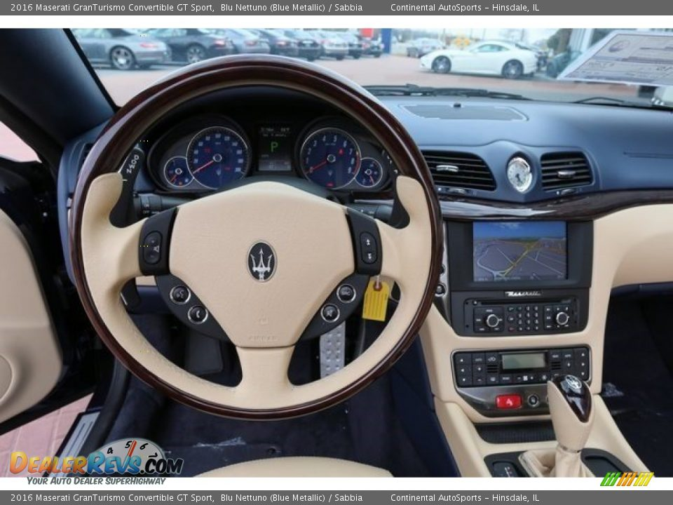 2016 Maserati GranTurismo Convertible GT Sport Blu Nettuno (Blue Metallic) / Sabbia Photo #11
