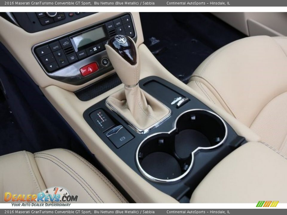 2016 Maserati GranTurismo Convertible GT Sport Blu Nettuno (Blue Metallic) / Sabbia Photo #12