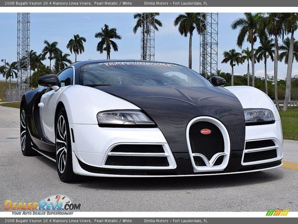 2008 Bugatti Veyron 16.4 Mansory Linea Vivere Pearl Metallic / White Photo #2