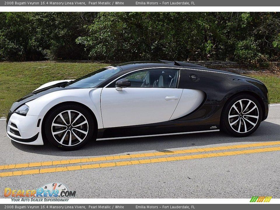 Pearl Metallic 2008 Bugatti Veyron 16.4 Mansory Linea Vivere Photo #5