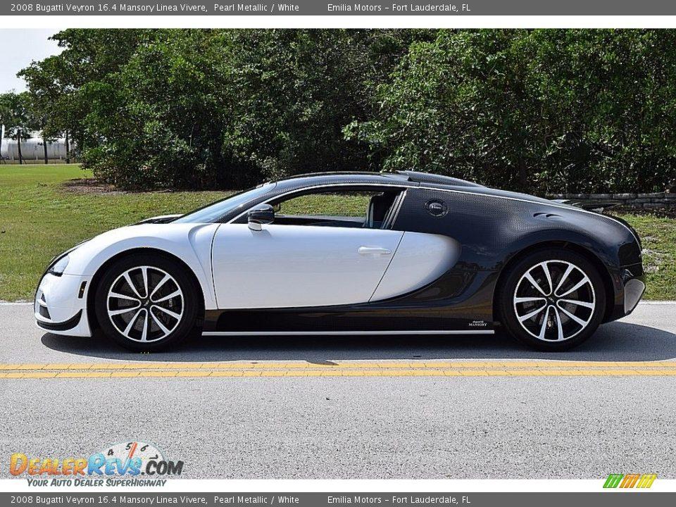 2008 Bugatti Veyron 16.4 Mansory Linea Vivere Pearl Metallic / White Photo #6