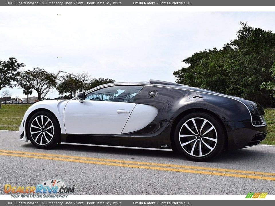 2008 Bugatti Veyron 16.4 Mansory Linea Vivere Pearl Metallic / White Photo #7