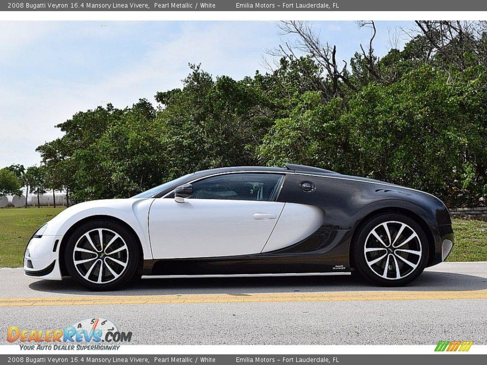 2008 Bugatti Veyron 16.4 Mansory Linea Vivere Pearl Metallic / White Photo #9