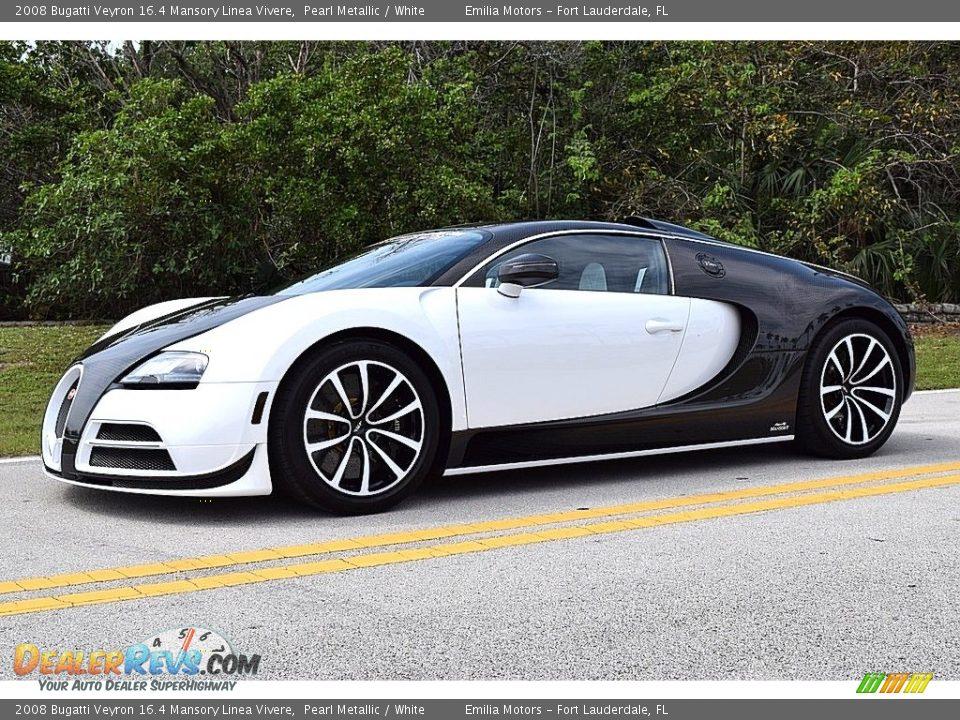 2008 Bugatti Veyron 16.4 Mansory Linea Vivere Pearl Metallic / White Photo #11