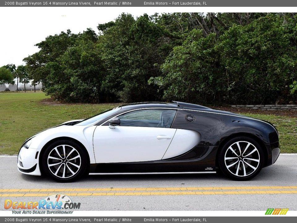 2008 Bugatti Veyron 16.4 Mansory Linea Vivere Pearl Metallic / White Photo #12
