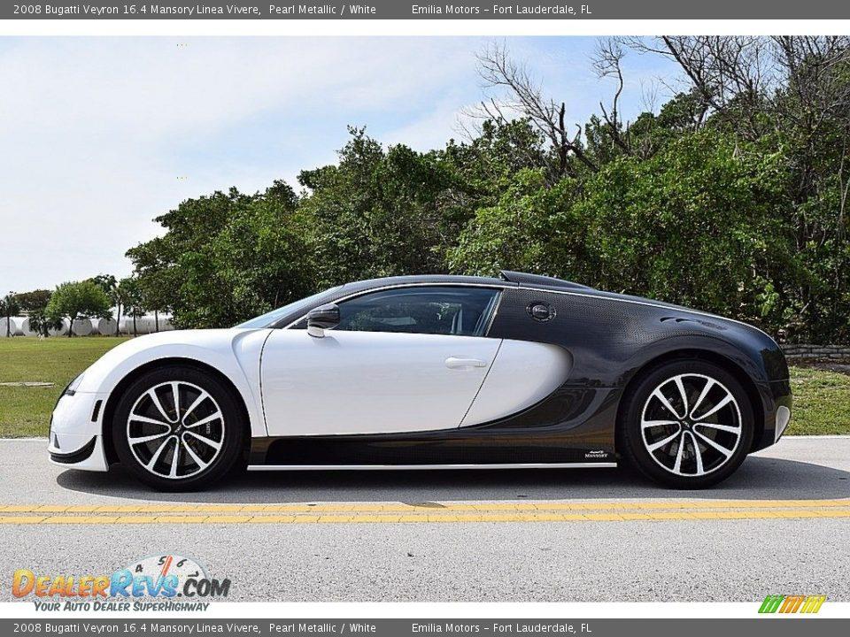 2008 Bugatti Veyron 16.4 Mansory Linea Vivere Pearl Metallic / White Photo #19