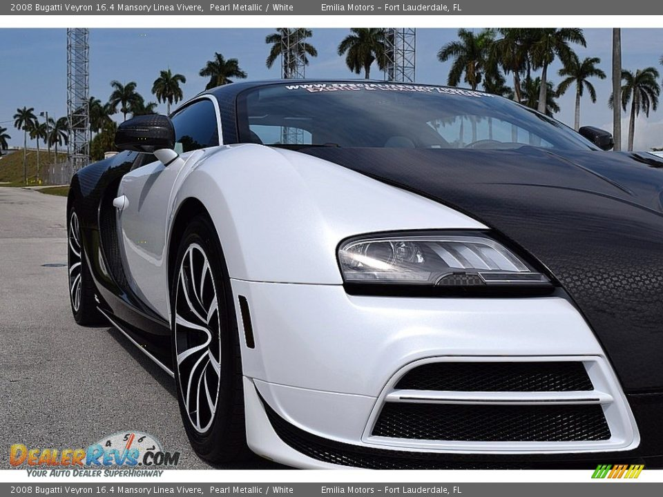 2008 Bugatti Veyron 16.4 Mansory Linea Vivere Pearl Metallic / White Photo #22