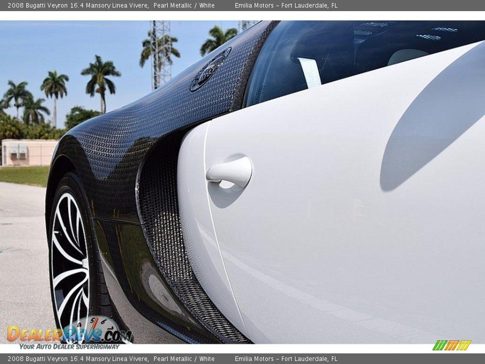 2008 Bugatti Veyron 16.4 Mansory Linea Vivere Pearl Metallic / White Photo #29
