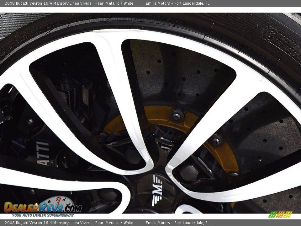 2008 Bugatti Veyron 16.4 Mansory Linea Vivere Pearl Metallic / White Photo #34