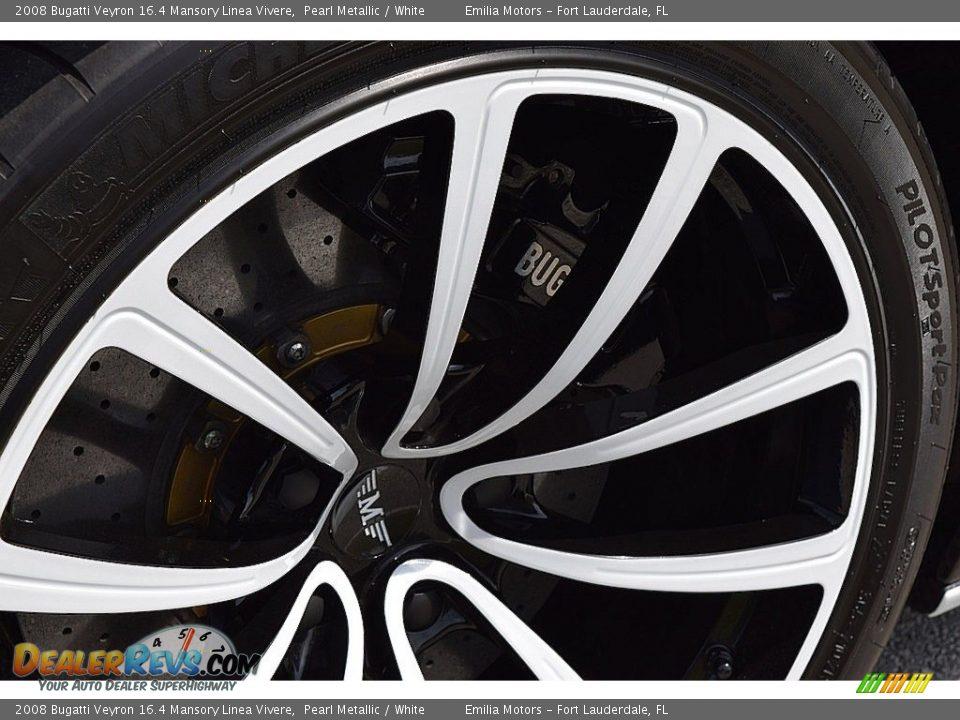 2008 Bugatti Veyron 16.4 Mansory Linea Vivere Pearl Metallic / White Photo #35