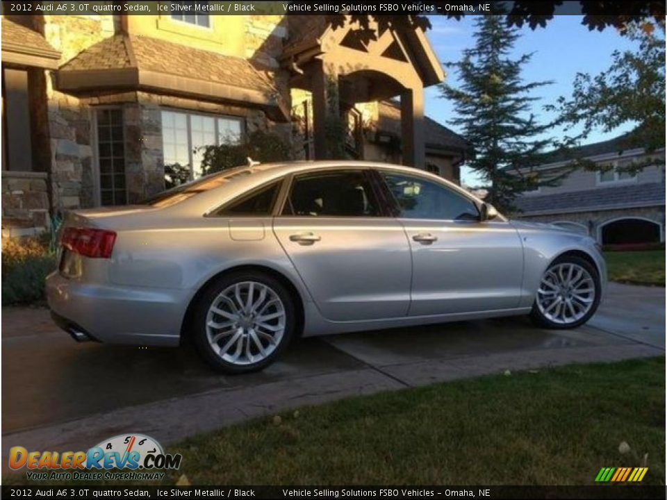 2012 Audi A6 3.0T quattro Sedan Ice Silver Metallic / Black Photo #2