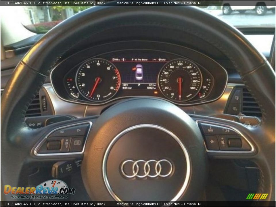 2012 Audi A6 3.0T quattro Sedan Ice Silver Metallic / Black Photo #4