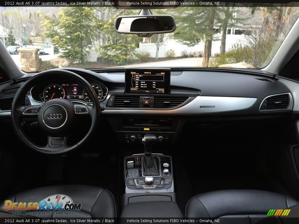 2012 Audi A6 3.0T quattro Sedan Ice Silver Metallic / Black Photo #6