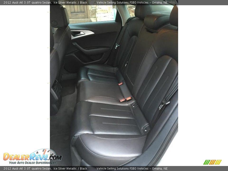 2012 Audi A6 3.0T quattro Sedan Ice Silver Metallic / Black Photo #11