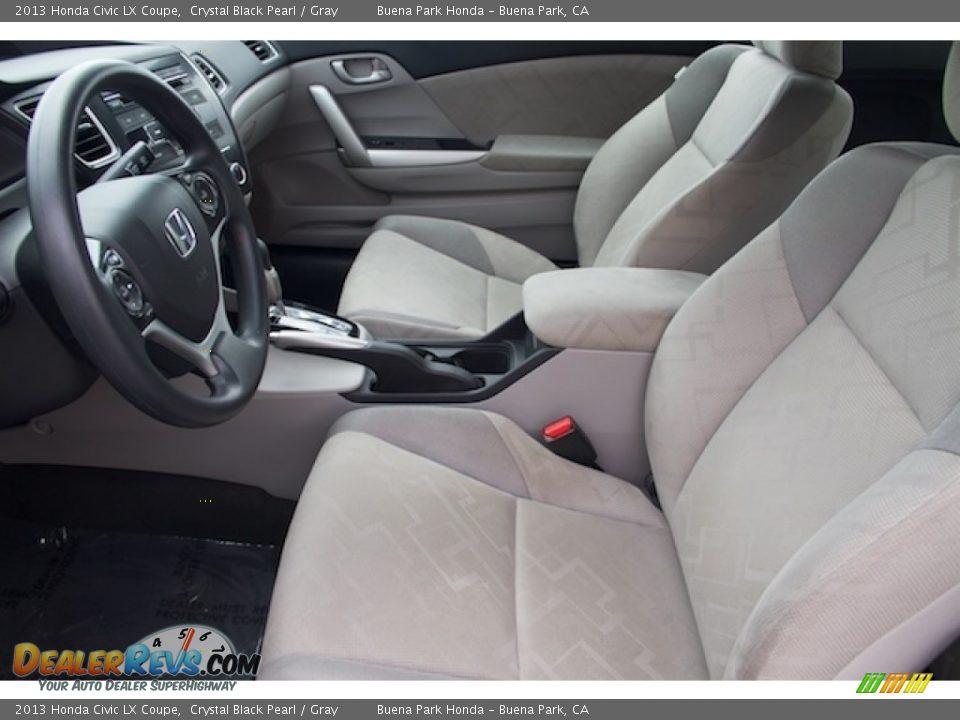 2013 Honda Civic LX Coupe Crystal Black Pearl / Gray Photo #3