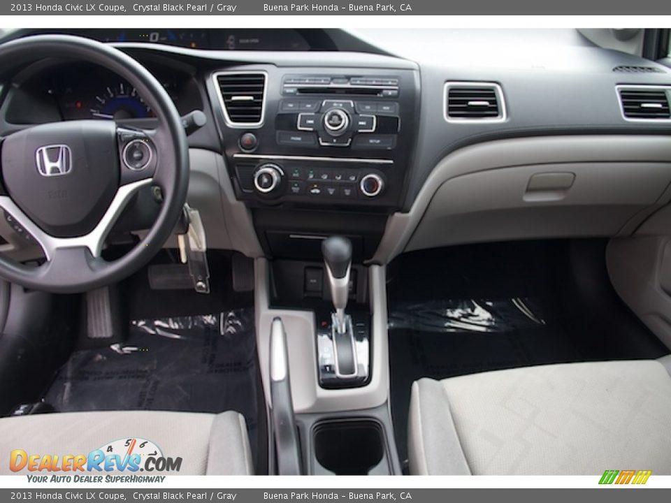 2013 Honda Civic LX Coupe Crystal Black Pearl / Gray Photo #5