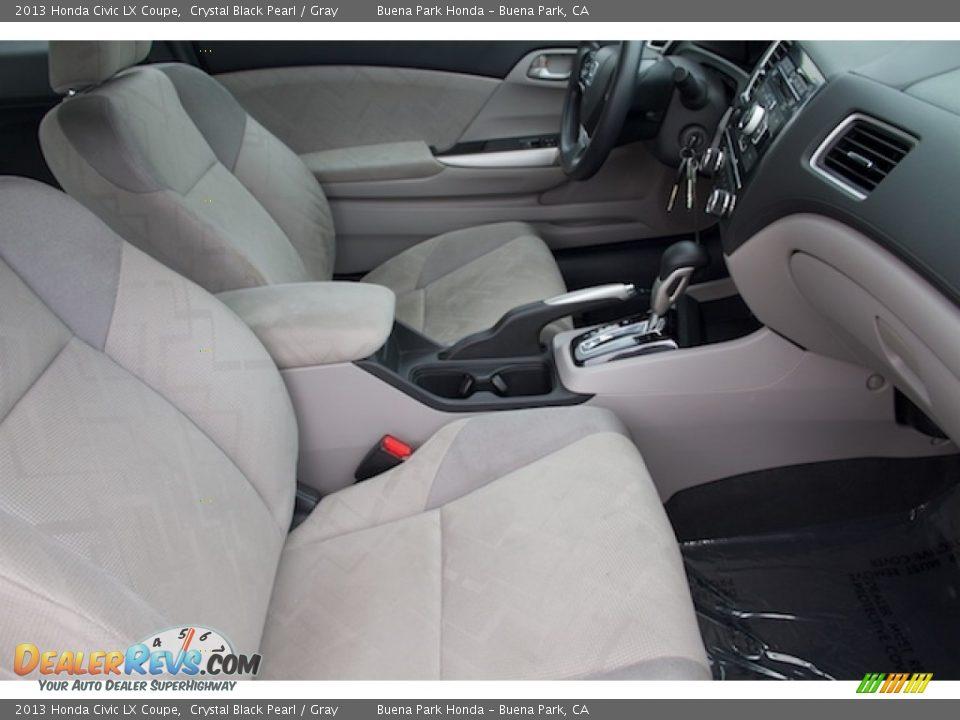 2013 Honda Civic LX Coupe Crystal Black Pearl / Gray Photo #15
