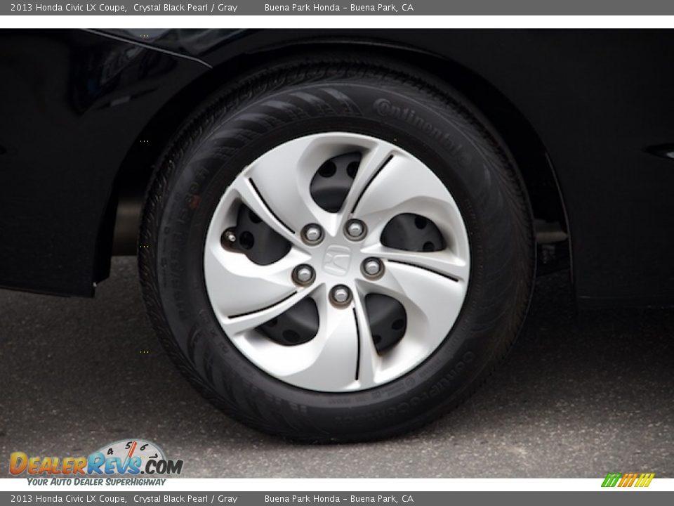 2013 Honda Civic LX Coupe Crystal Black Pearl / Gray Photo #23