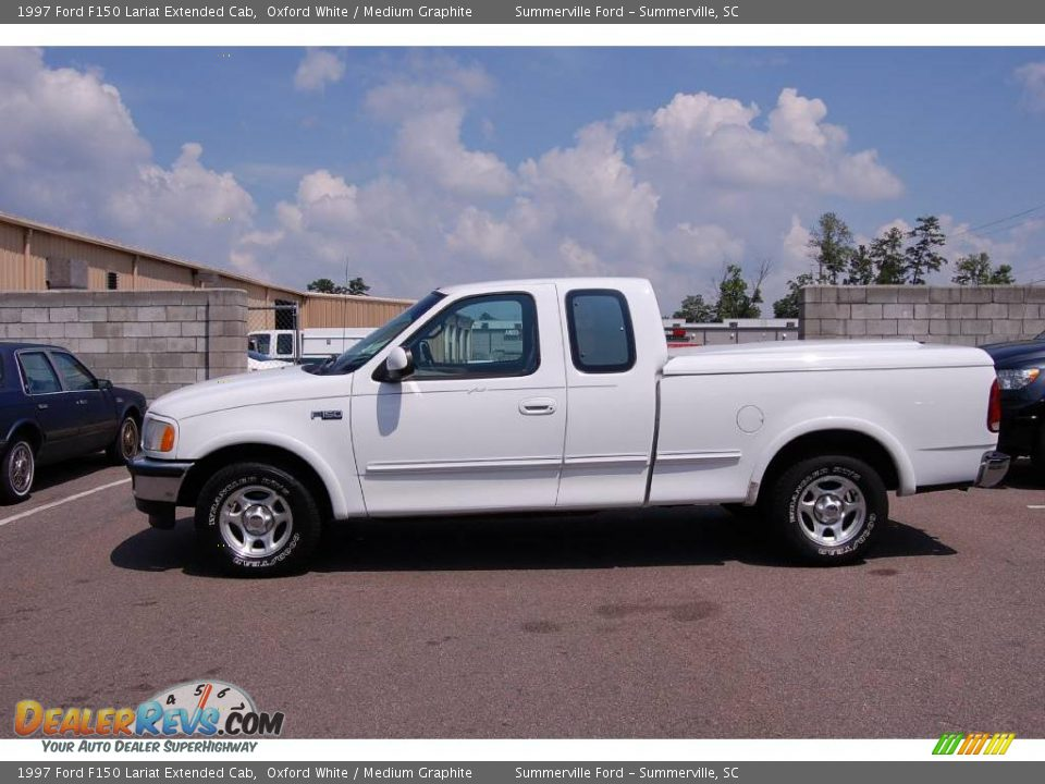 1997 ford f150 lariat extended cab oxford white medium graphite photo 2. Black Bedroom Furniture Sets. Home Design Ideas