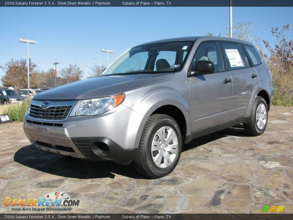 2009 subaru forester 2 5 x steel silver metallic platinum photo 2. Black Bedroom Furniture Sets. Home Design Ideas