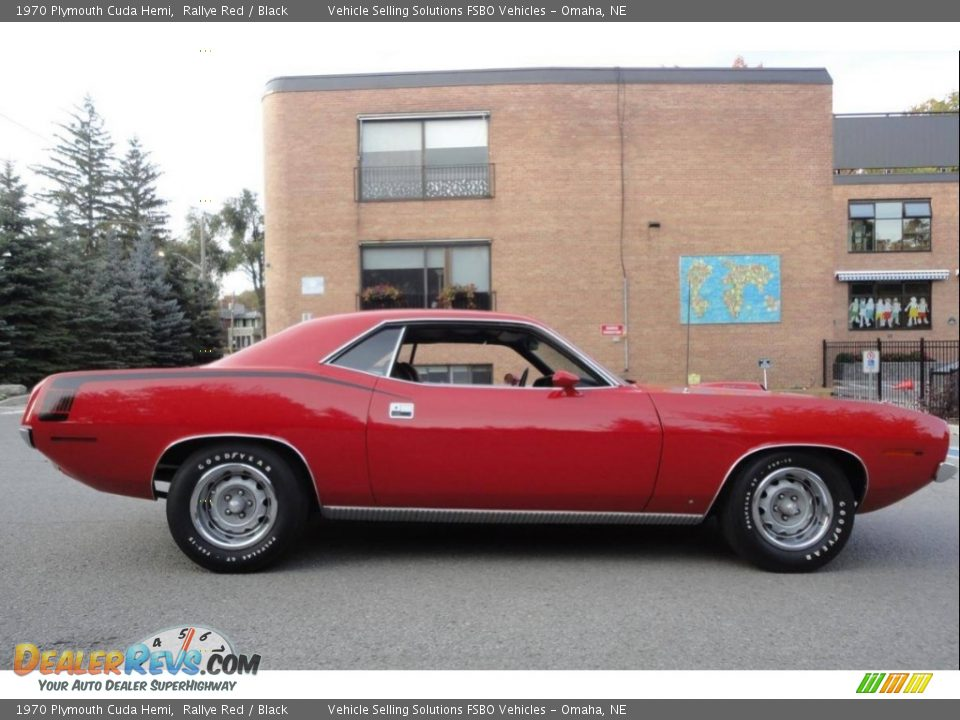 1970 Plymouth Cuda Hemi Rallye Red / Black Photo #3