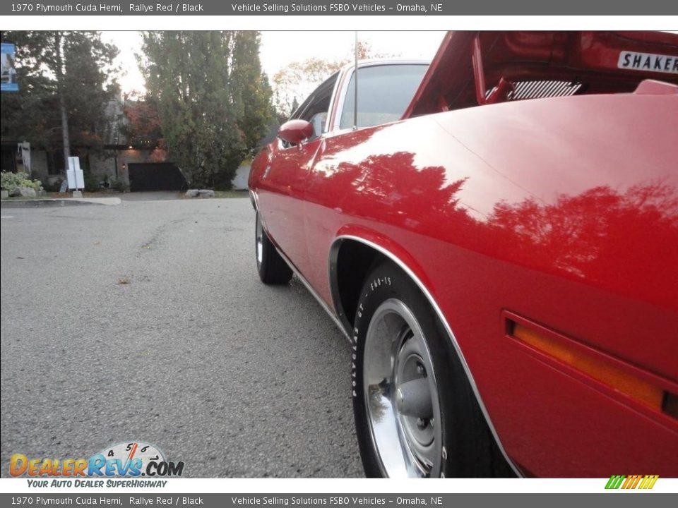 1970 Plymouth Cuda Hemi Rallye Red / Black Photo #8