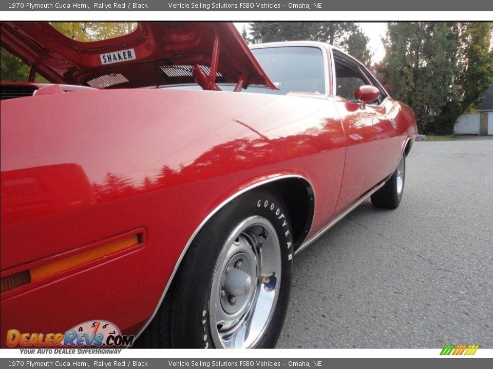 1970 Plymouth Cuda Hemi Rallye Red / Black Photo #13