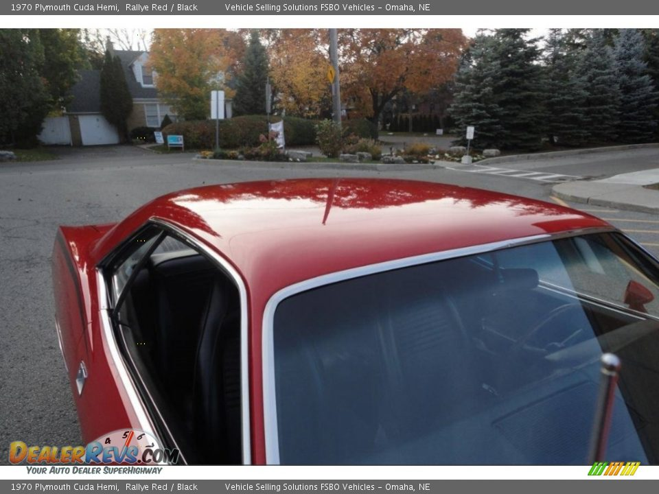 1970 Plymouth Cuda Hemi Rallye Red / Black Photo #15