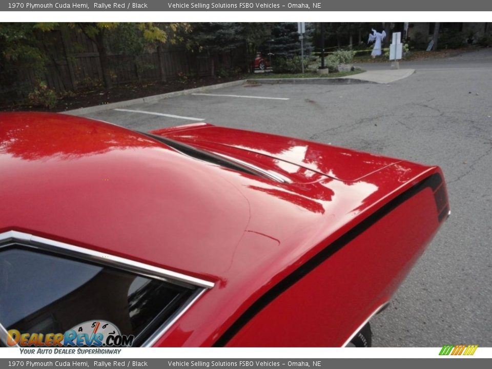 1970 Plymouth Cuda Hemi Rallye Red / Black Photo #16