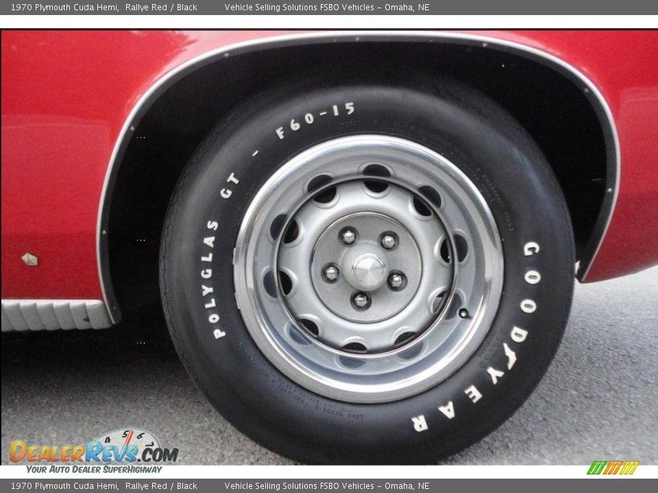 1970 Plymouth Cuda Hemi Rallye Red / Black Photo #21