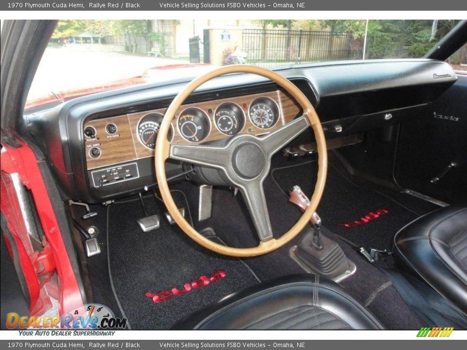 Black Interior - 1970 Plymouth Cuda Hemi Photo #31