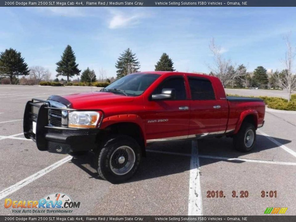2006 Dodge Ram 2500 SLT Mega Cab 4x4 Flame Red / Medium Slate Gray Photo #2