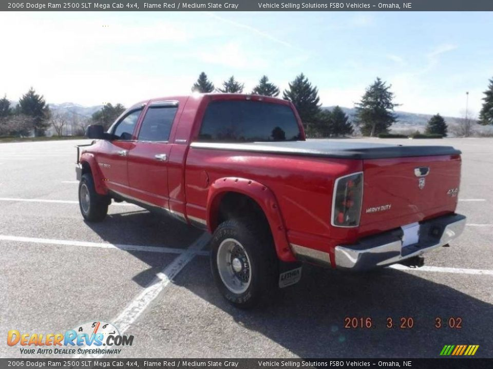 2006 Dodge Ram 2500 SLT Mega Cab 4x4 Flame Red / Medium Slate Gray Photo #4