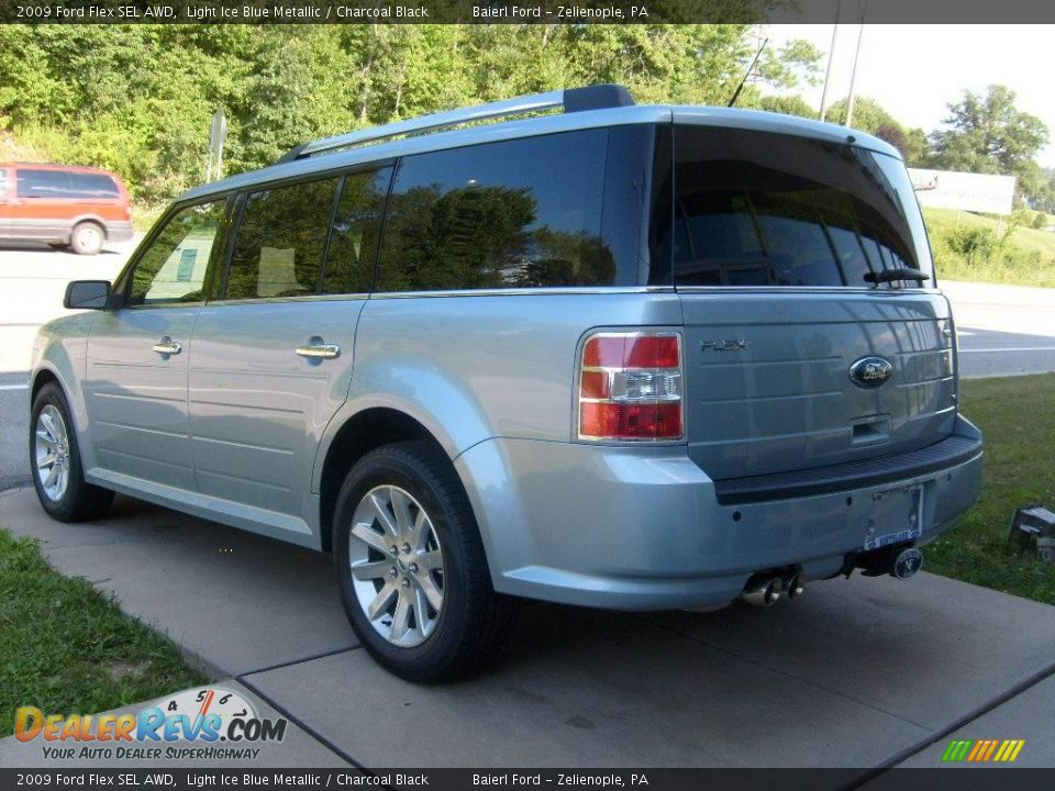 2009 ford flex sel awd light ice blue metallic charcoal. Black Bedroom Furniture Sets. Home Design Ideas